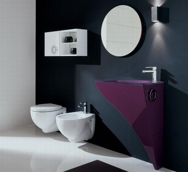 Стильная фиолетовая ванна фото 1