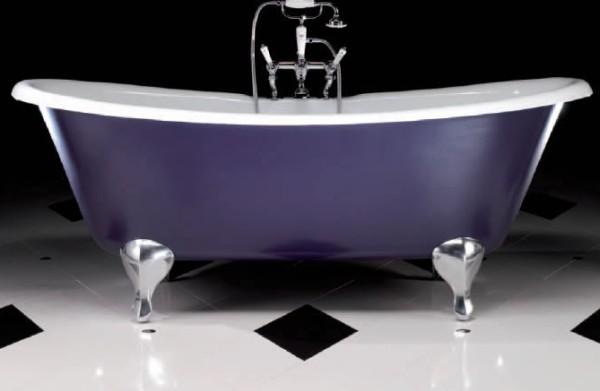 Современная фиолетовая ванная фото 1