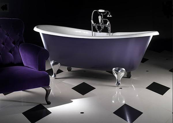 Современная фиолетовая ванная фото 2
