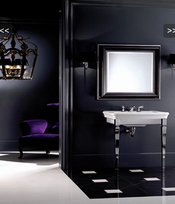 Современная фиолетовая ванная фото 3