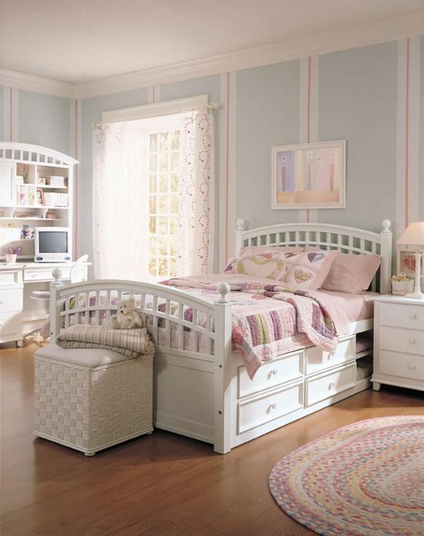 Спальная комната для молодой девушки фото 2