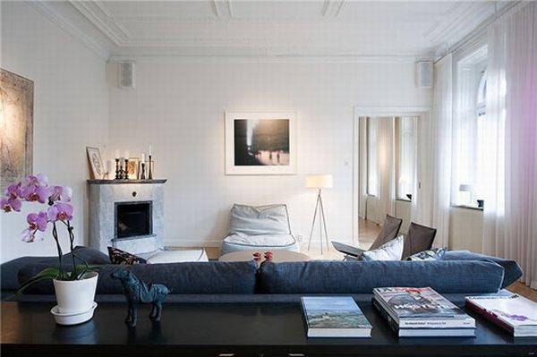 Современный Дизайн интерьера квартиры в Стокгольме фото 1