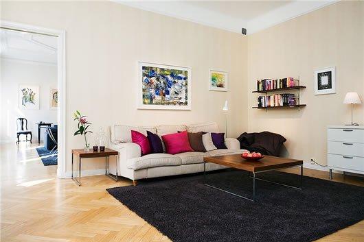 Современный Дизайн интерьера квартиры в Стокгольме фото 2