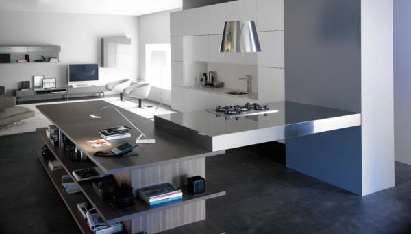 Кухня внутри гостиной - дизайн - фото 1