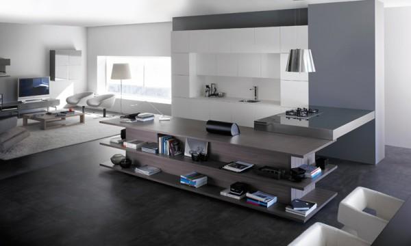 Кухня внутри гостиной - дизайн - фото 3