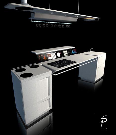Футуристическая кухня фото 1