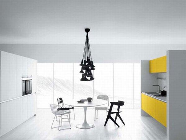 Кухня в жёлтых тонах фото 1