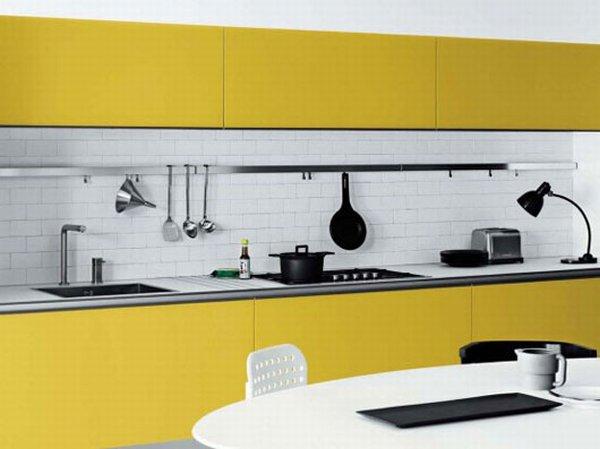 Кухня в жёлтых тонах фото 3