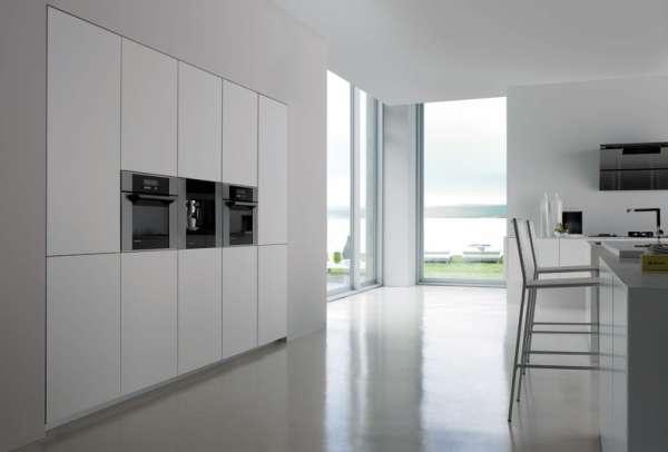 Стильная белая кухня фото 1