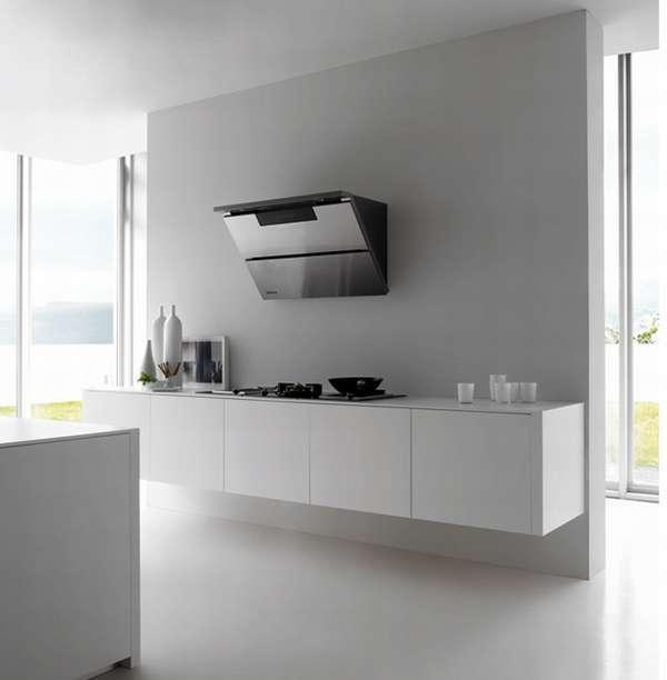 Стильная белая кухня фото 3