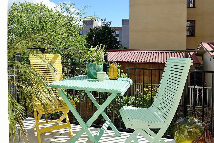 Дизайн красочной квартиры в Швеции фото 12