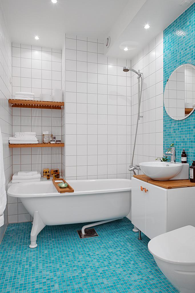 Дизайн красочной квартиры в Швеции фото 13