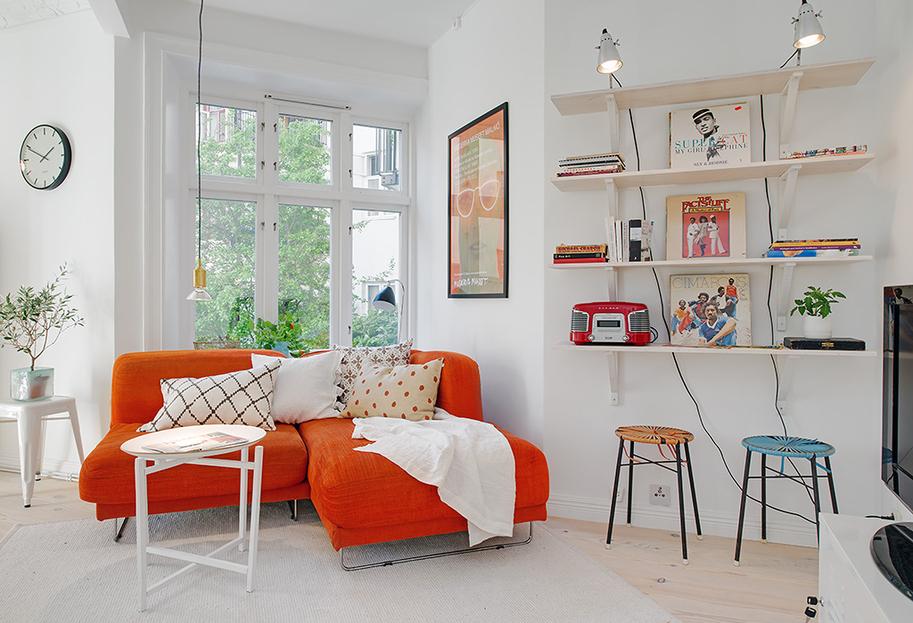 Дизайн красочной квартиры в Швеции фото 2
