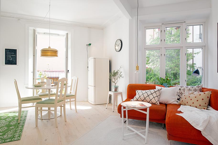 Дизайн красочной квартиры в Швеции фото 3