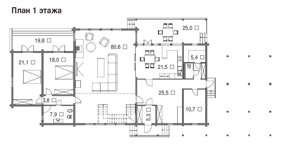 367/07 – проект деревянного дома 1 этаж