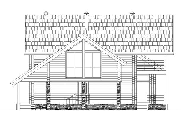 367/07 – проект деревянного дома фасад 4
