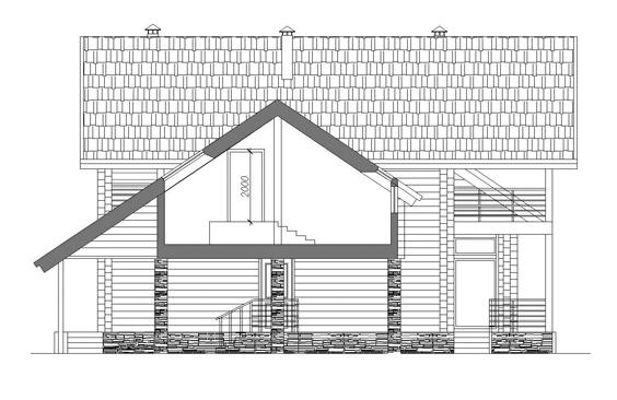 367/07 – проект деревянного дома фасад 6