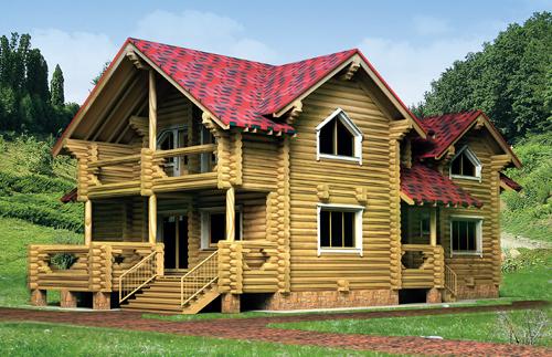 """Деревянный дом """"Дарья I"""" фасад"""