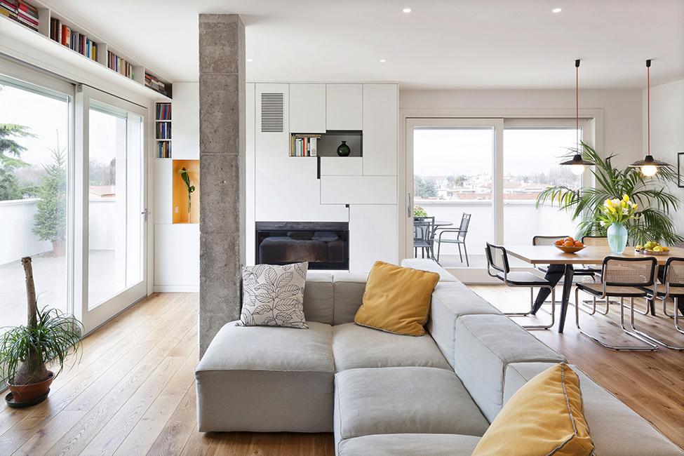 Дизайн ярких апартаментов фото 1