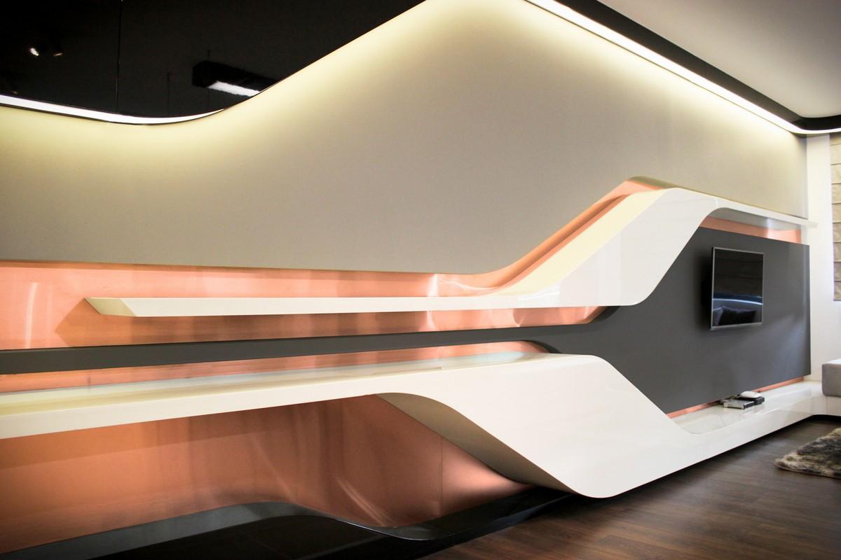 Футуристический дизайн интерьера частного дома фото 2