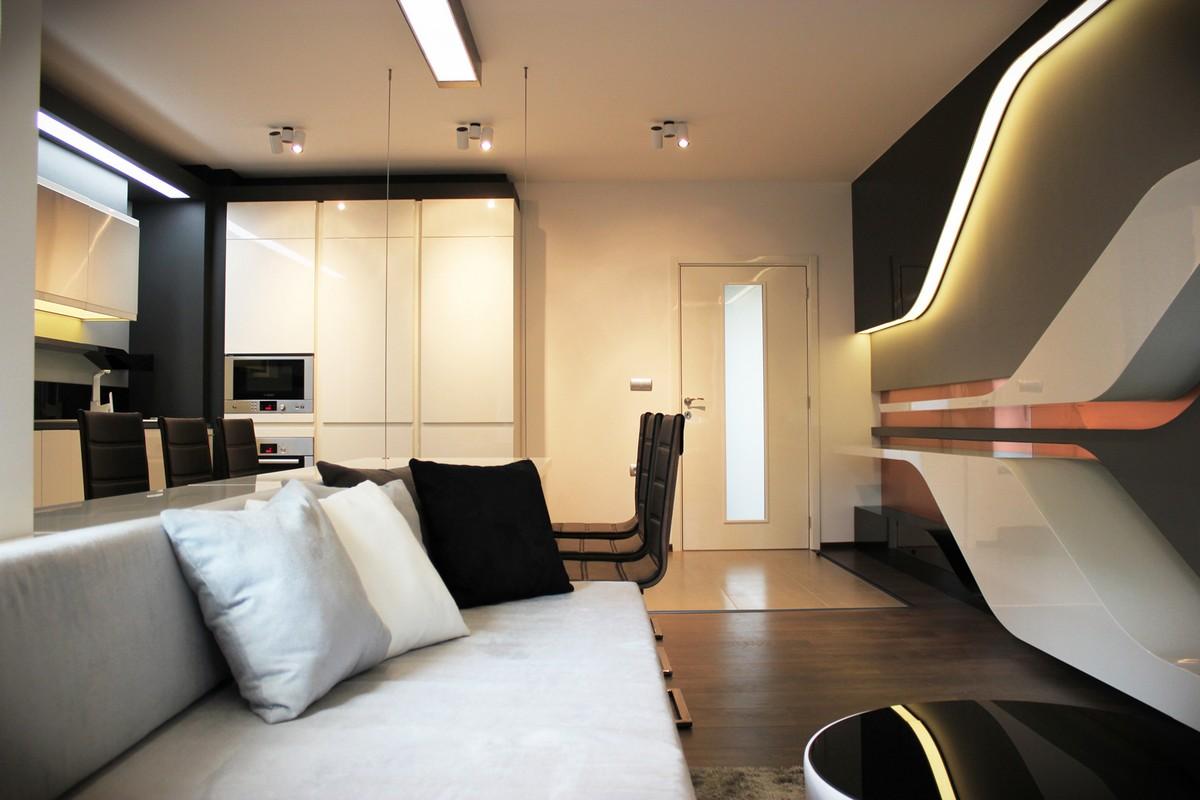 Футуристический дизайн интерьера частного дома фото 3