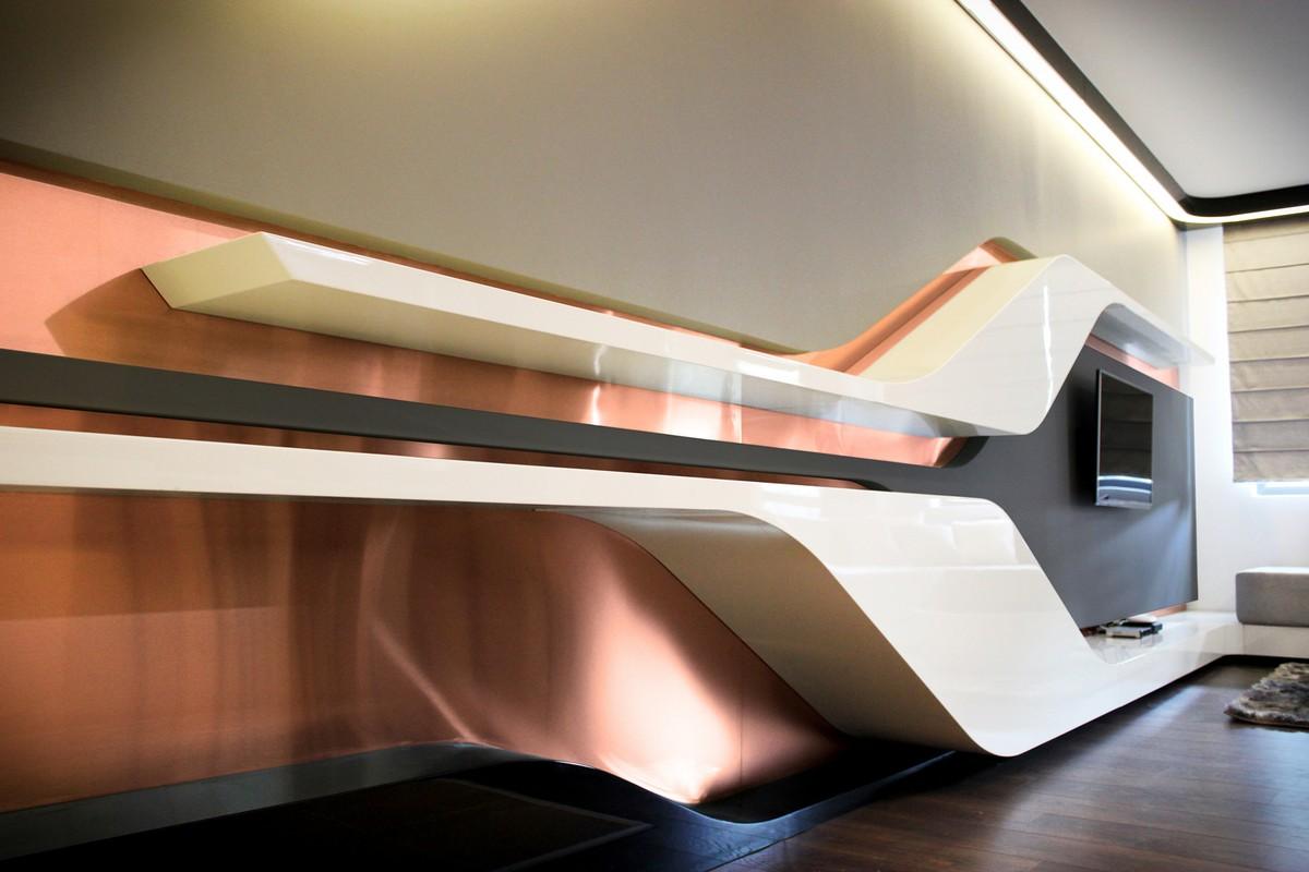 Футуристический дизайн интерьера частного дома фото 4