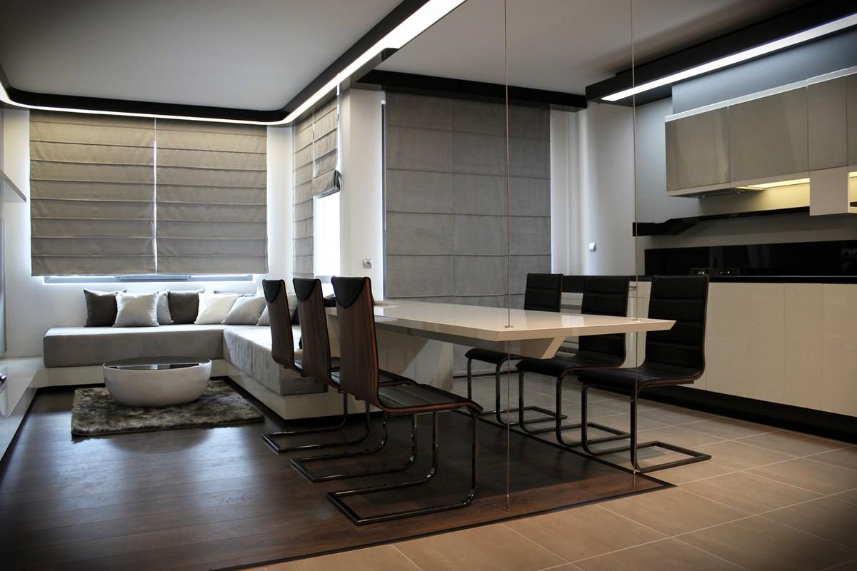 Футуристический дизайн интерьера частного дома фото 9