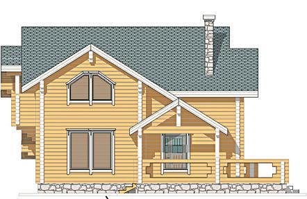 Проект деревянного дома Радонеж - фасад фото 2