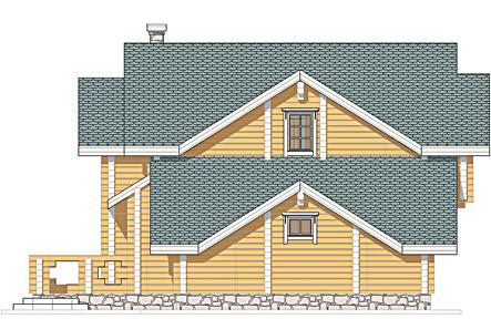 Проект деревянного дома Радонеж - фасад фото 3