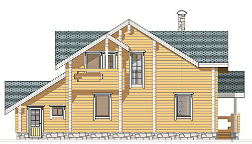 Проект деревянного дома Радонеж - фасад фото 4