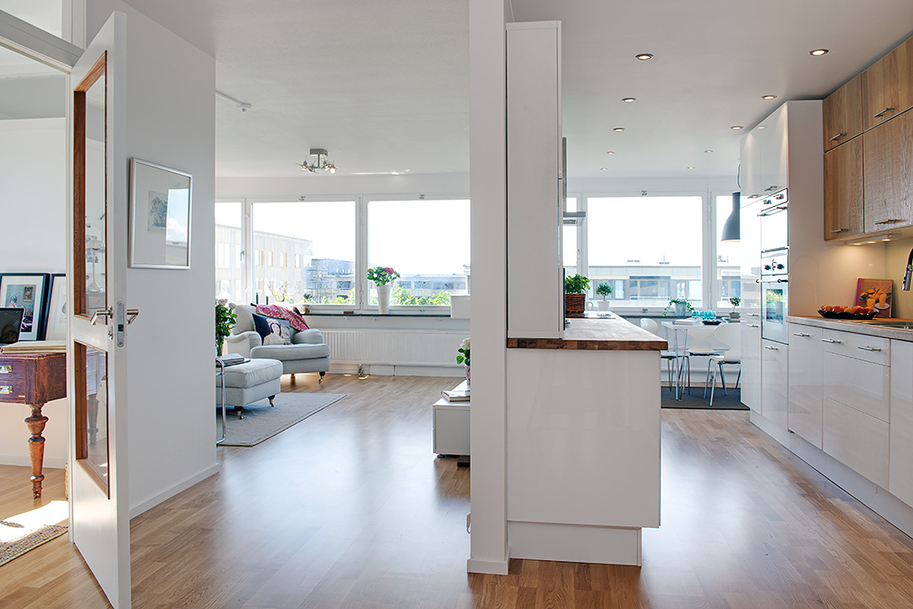 Реконструкция квартиры в Гетеборге фото 6