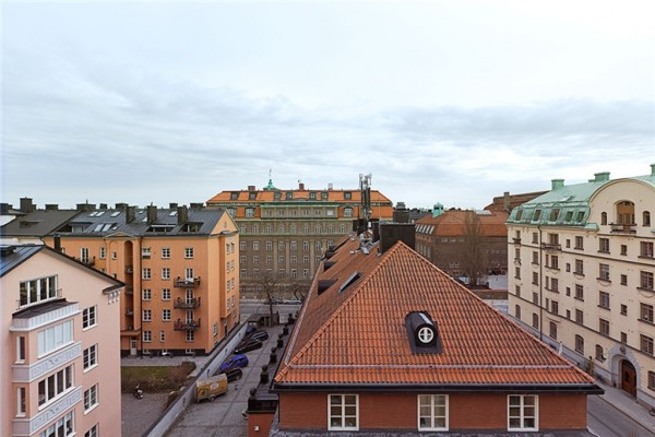 Шведский лофт с видом на город фото 17
