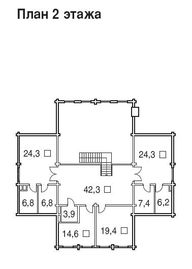 Большой деревянный дом - БК-505 - второй этаж