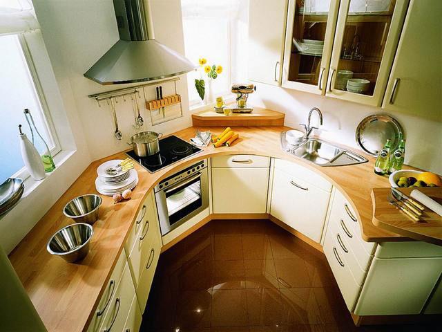 Планировка различных форм кухонь