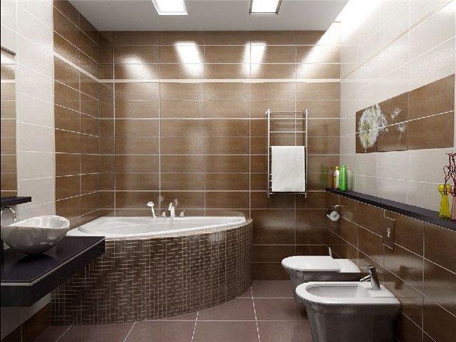 Оригинальный дизайн ванной комнаты для любителей кофе