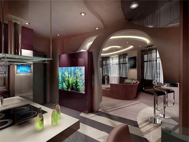 Совмещенные комнаты: кухня-гостиная