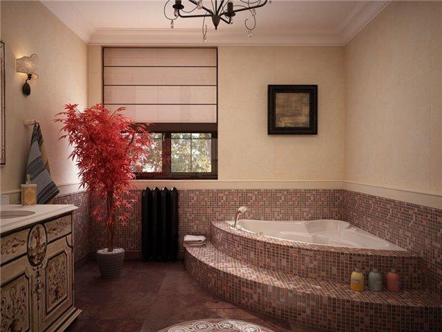 Оформление ванной комнаты окном
