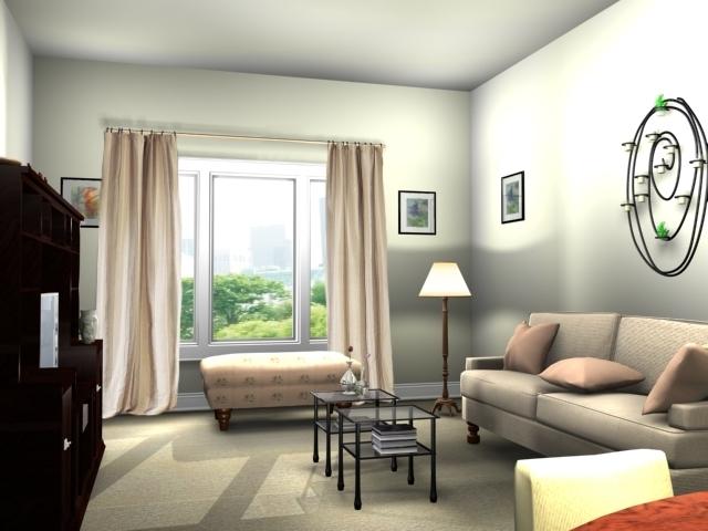 Приемы для увеличения гостиной
