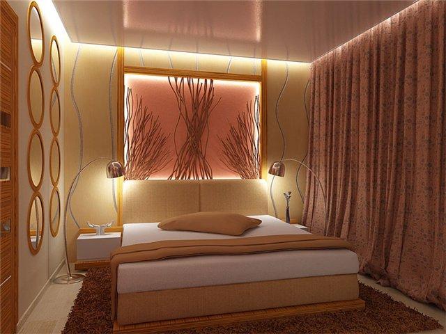 Декорирование малогабаритной спальни