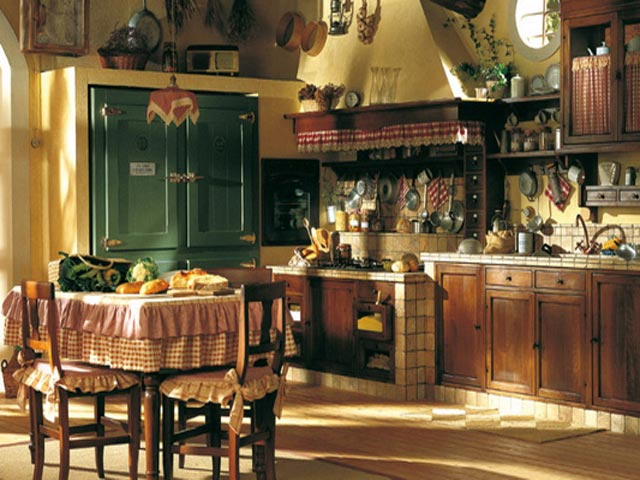 Кухня в украинском этно-стиле