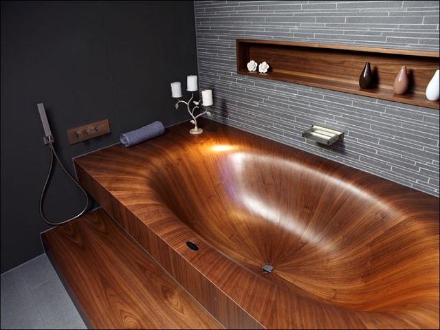 Деревянная ванная - новый старый дизайн