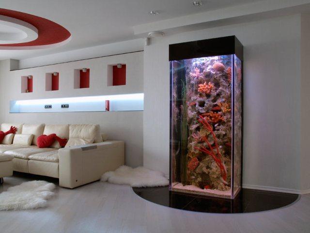 Оригинальные дизайны с аквариумом в доме