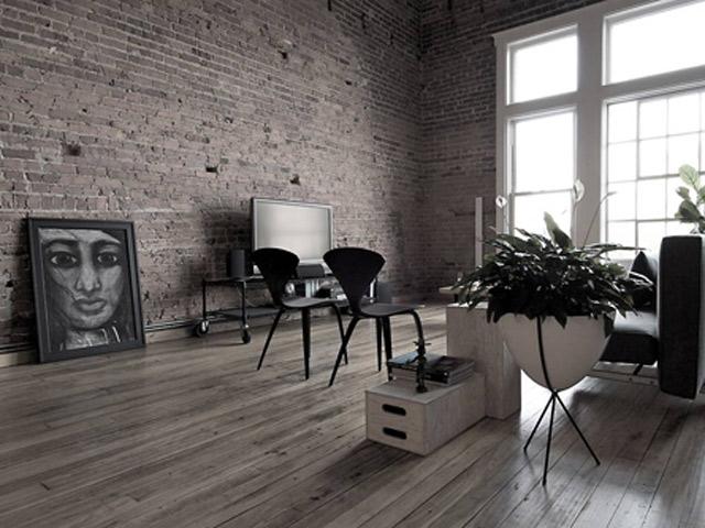 Кирпичная кладка в дизайне квартиры