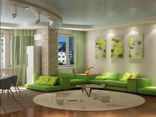 Уникальный дизайн небольшой гостиной