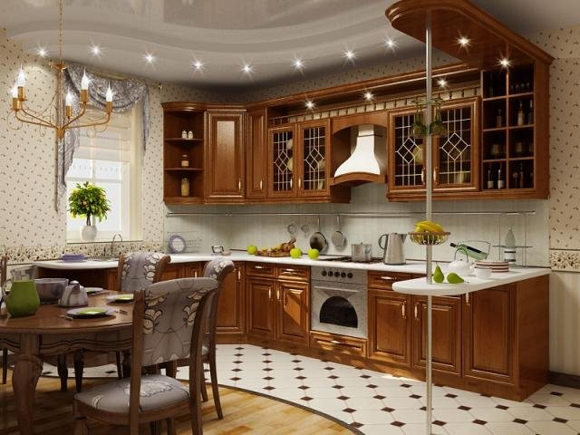 Создаём красивый интерьер кухни